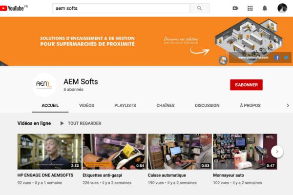 AEM Softs lance sa chaine Youtube